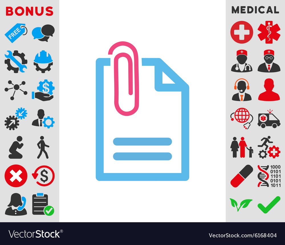 Attach Document Icon vector image