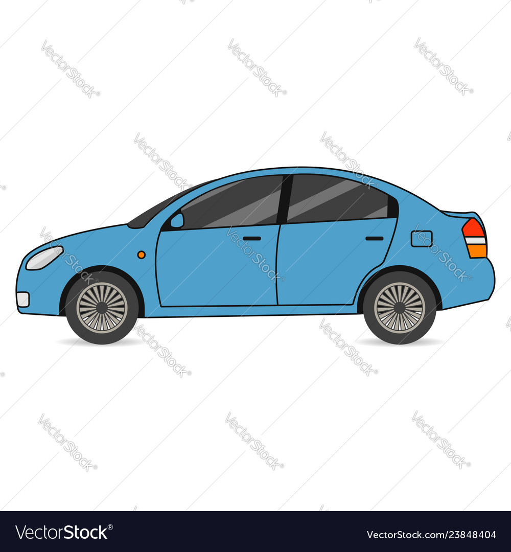 Car automobile transport in flat style