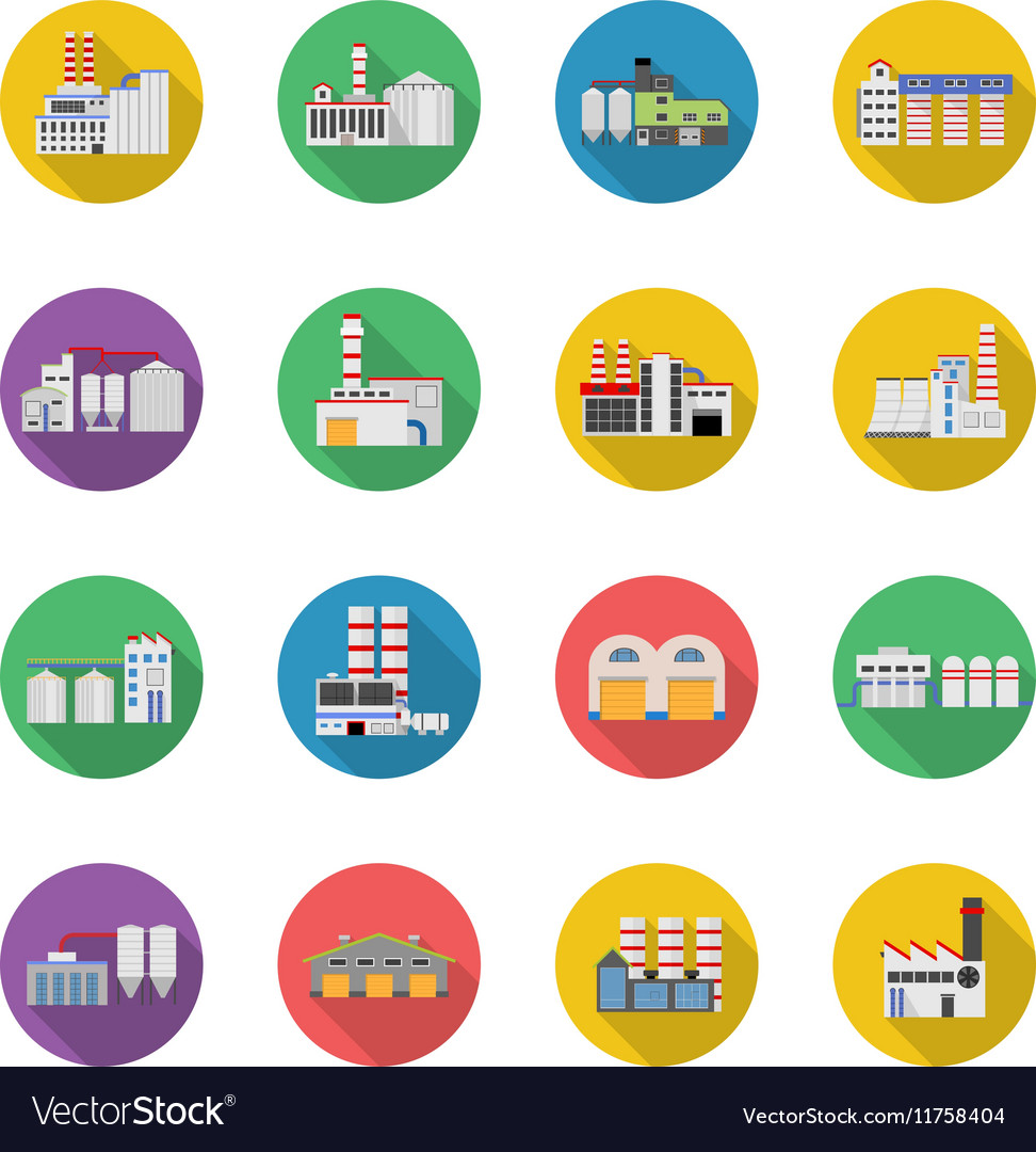 Flat industrial buildings and factories