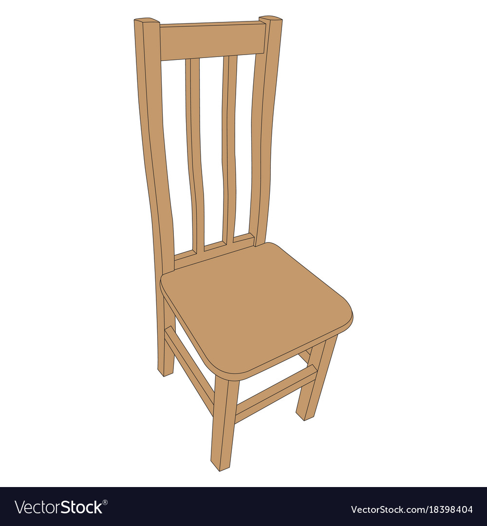 Image of an old wooden chair vector image  sc 1 st  VectorStock & Image of an old wooden chair Royalty Free Vector Image