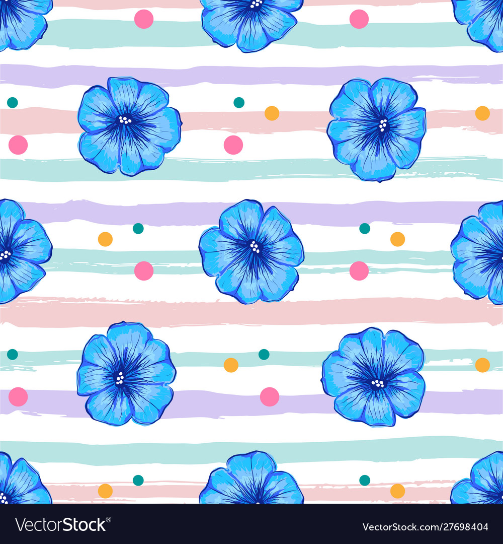 Petunia flower seamless pattern petunia flowers
