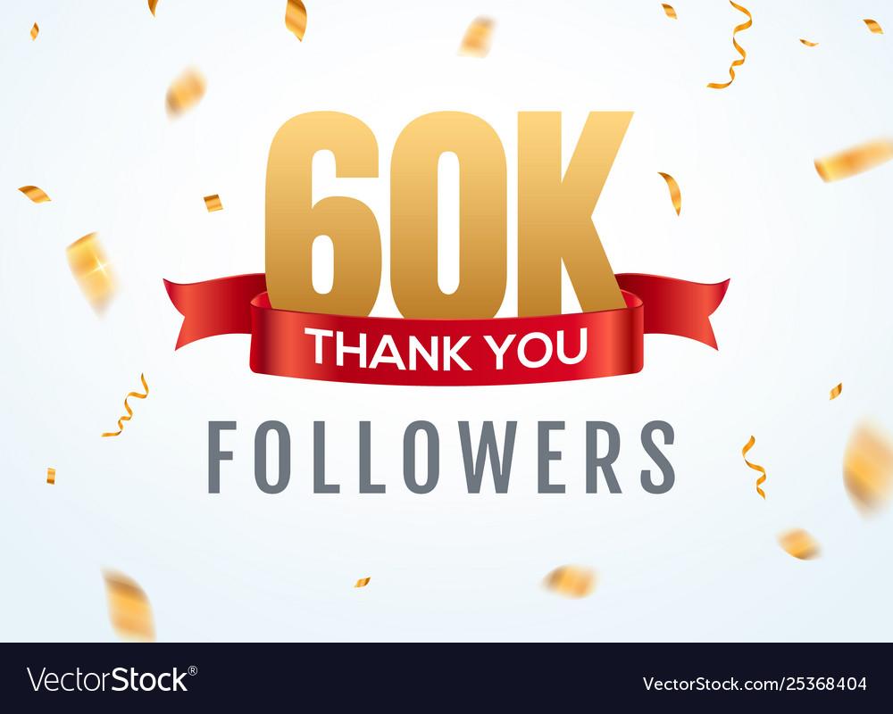 Thank you 60000 followers design template social