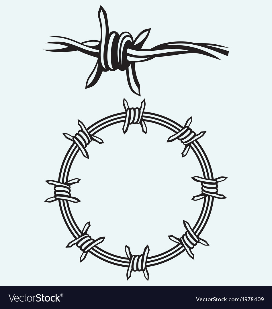 Barbed wire Royalty Free Vector Image - VectorStock