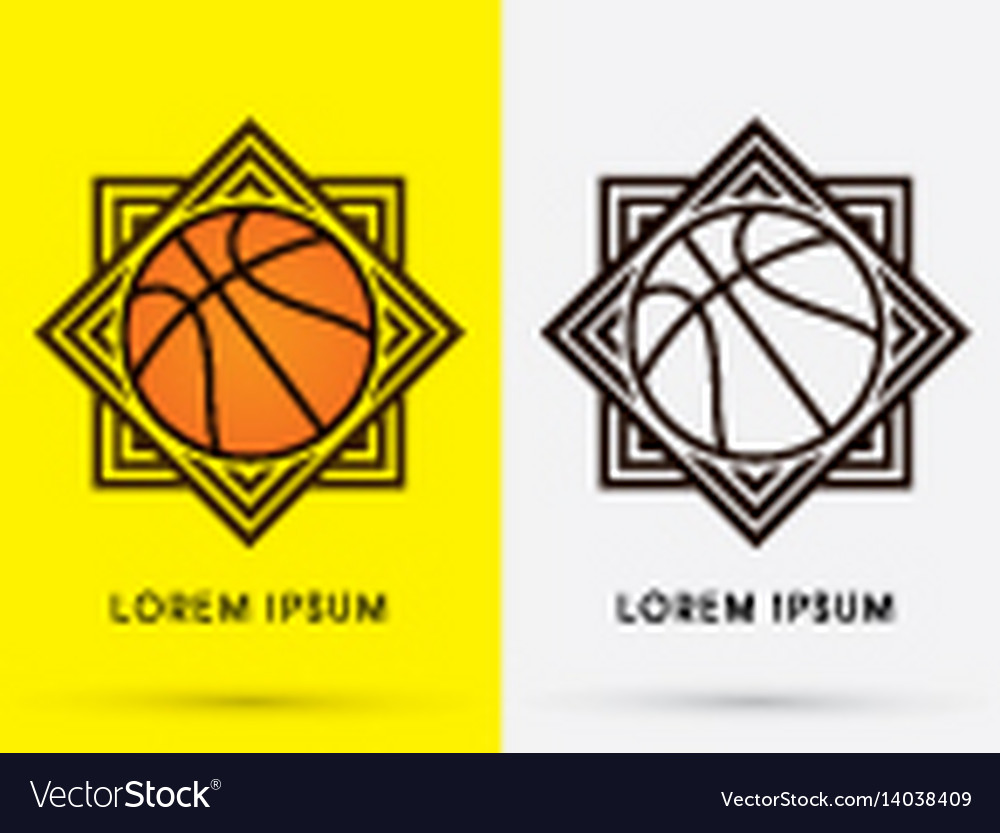 Basketball logo vector image