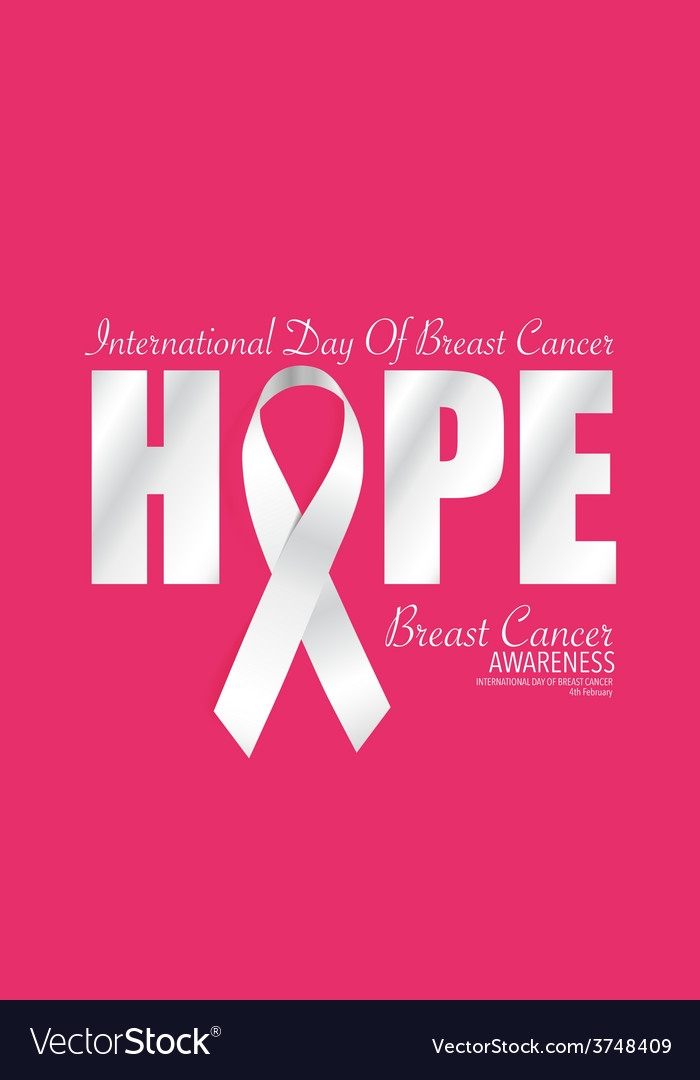 de0195d3134 Breast Cancer Awareness cards design vector image on VectorStock