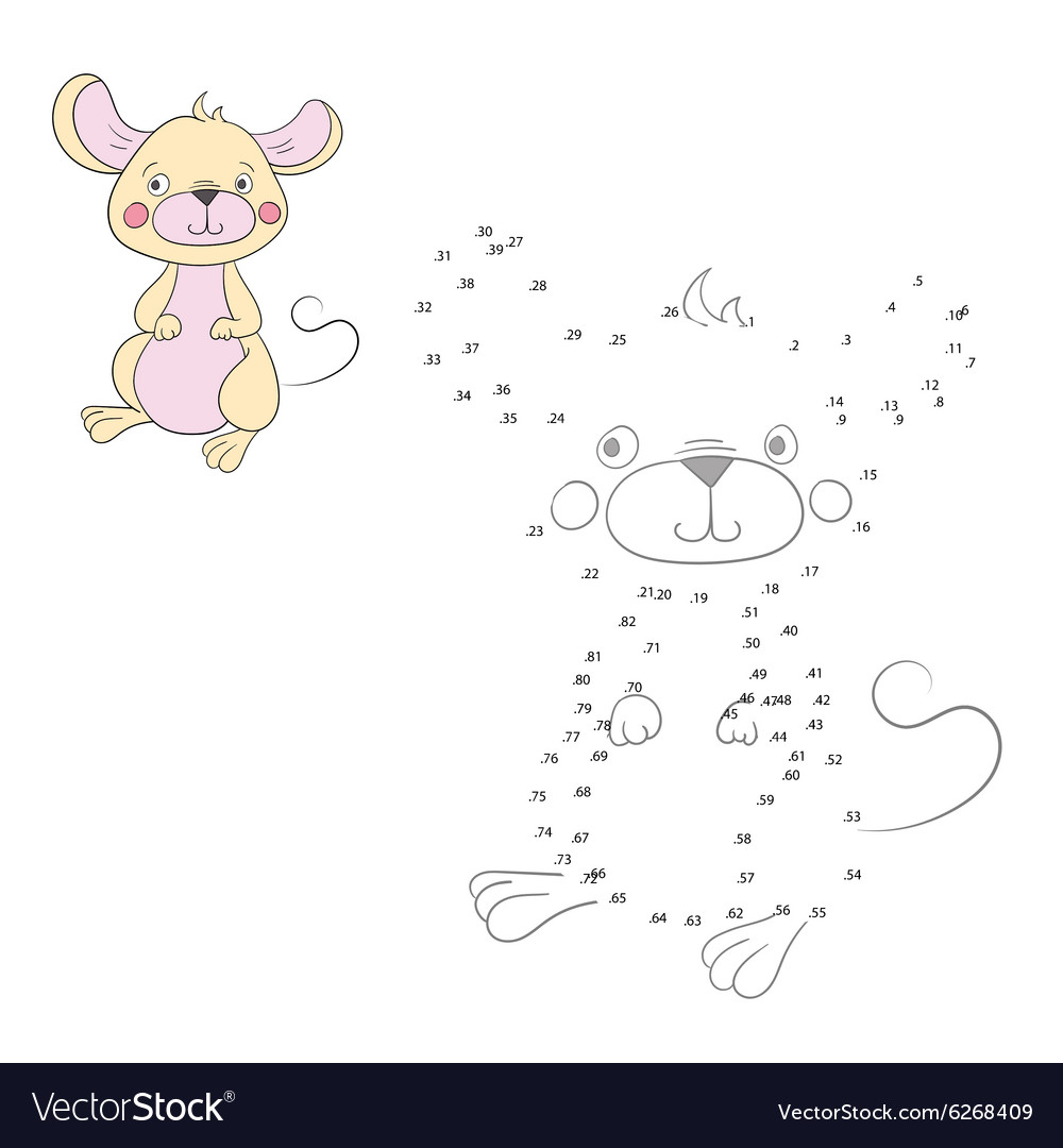 - Connect The Dots Game Mouse Royalty Free Vector Image