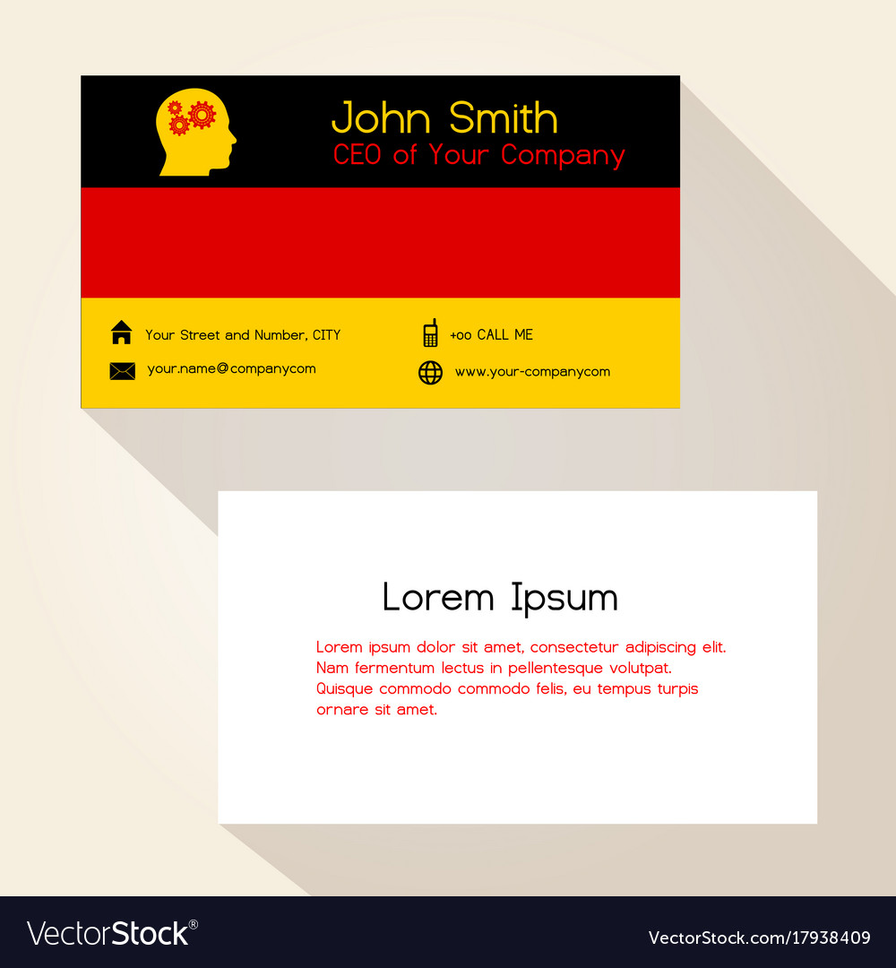 Germany flag color business card design eps10 vector image reheart Images