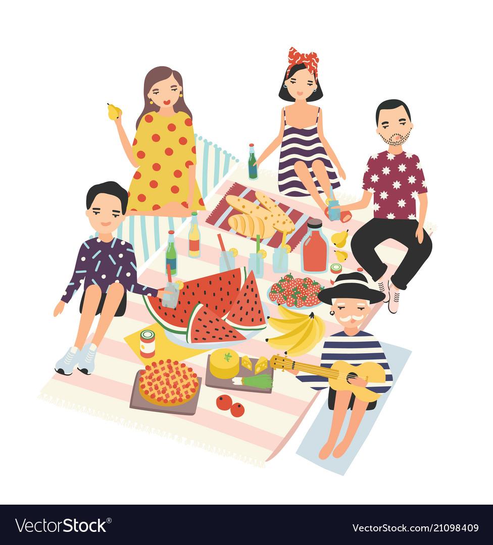 Happy people or group friends having dinner
