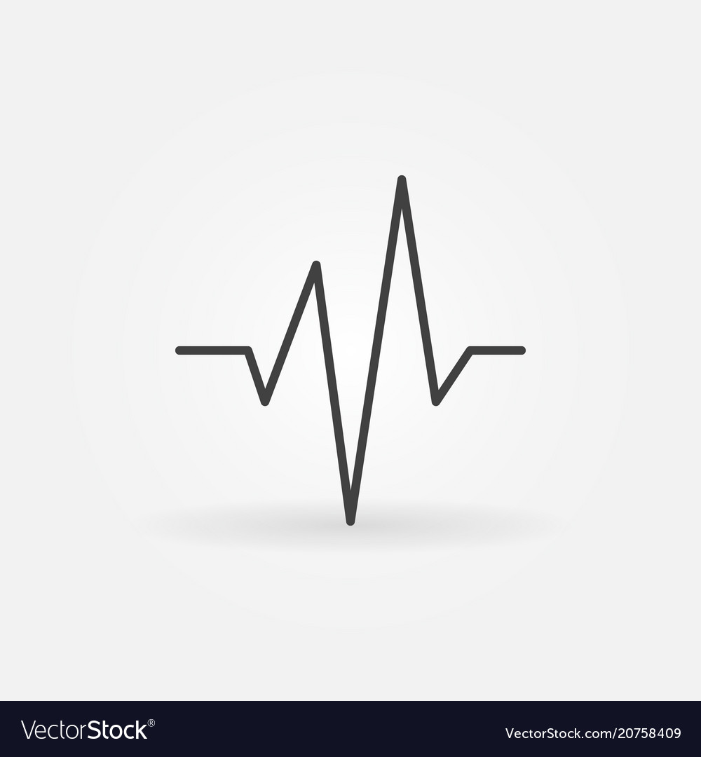 Heartbeat simple concept icon in thin line vector image