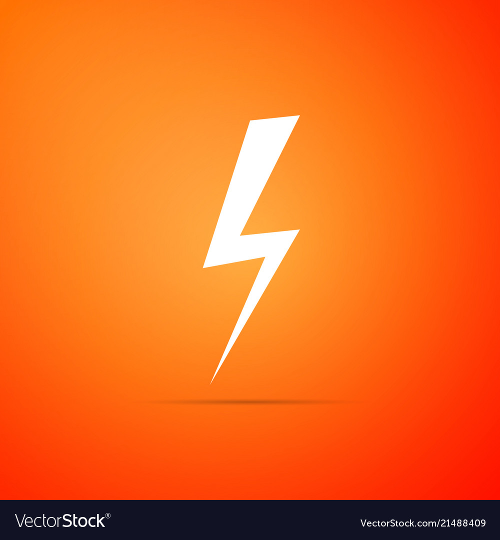 Lightning Bolt Icon Flash Charge Vector Image