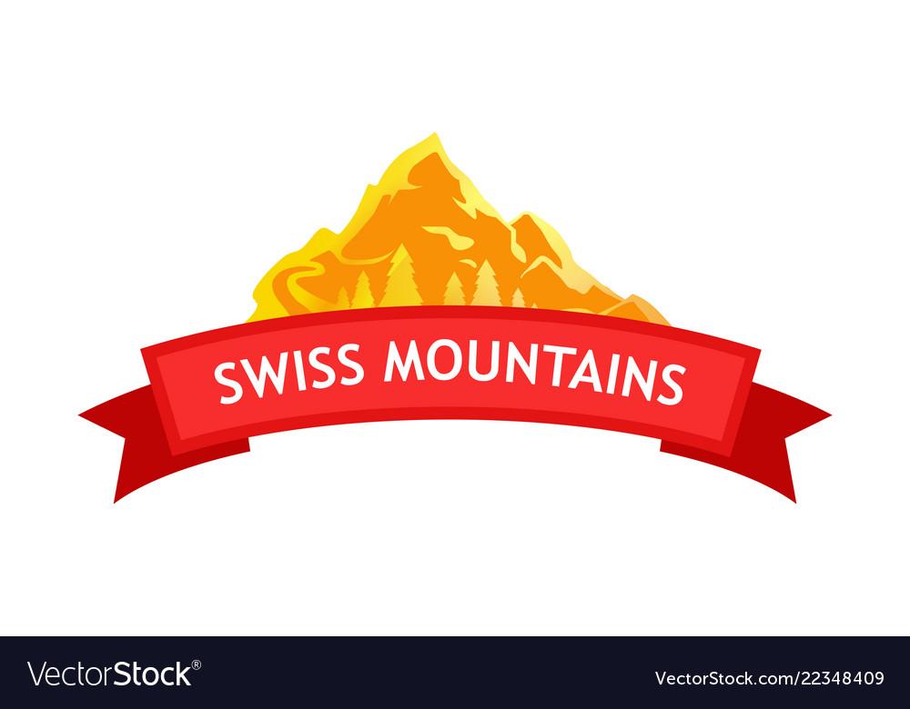 Logo of swiss mountains