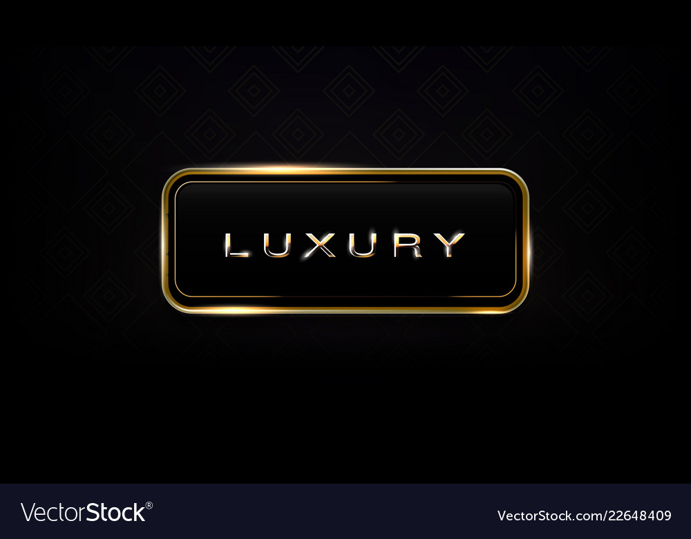 Luxury glass and gold frame dark label template