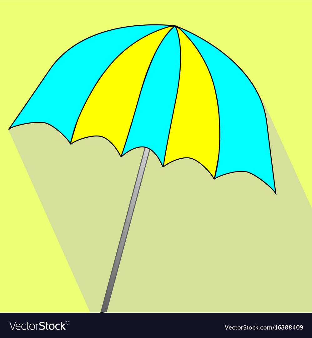 Summer umbrella icon