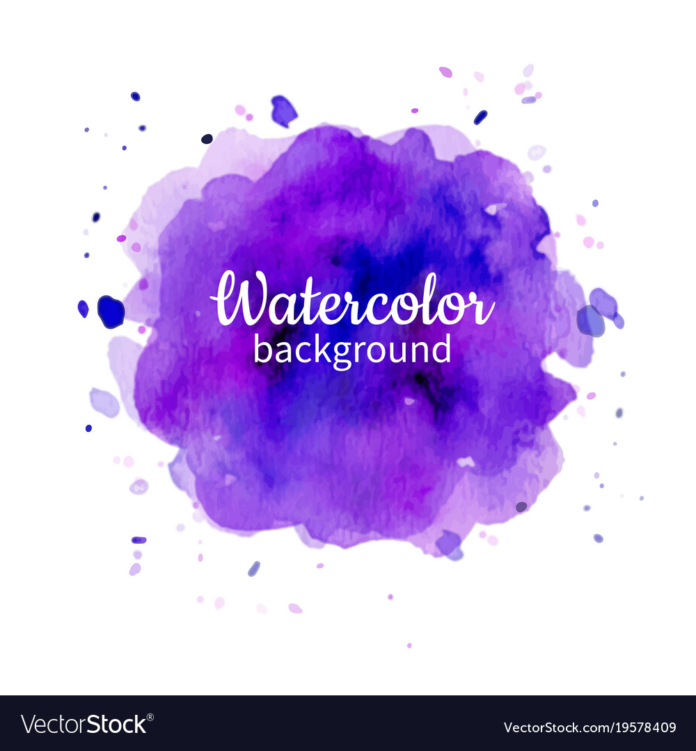 Violet watercolor abstract hand painted