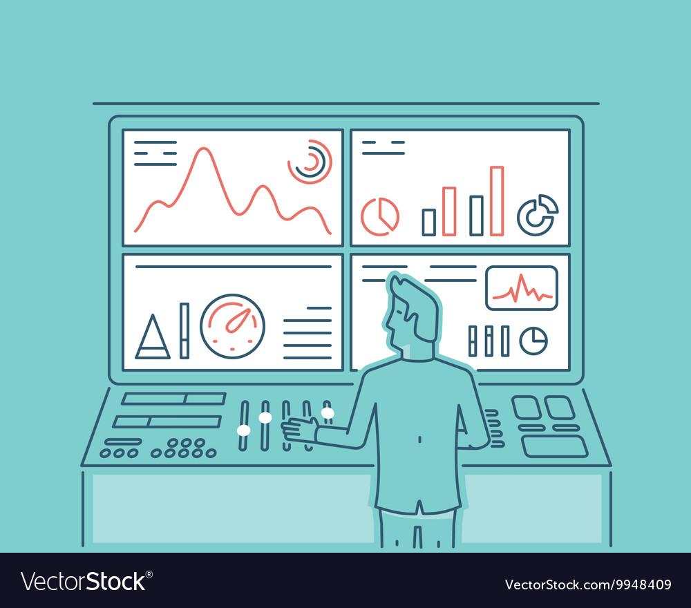Web analytics information vector image