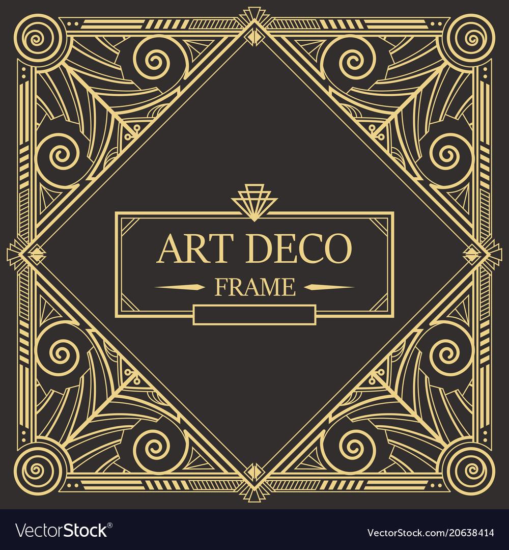 Art deco border frame 08