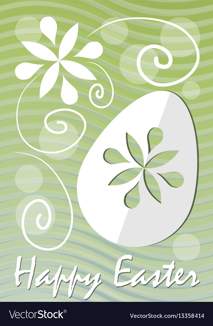 Happy easter fine green wavy background with
