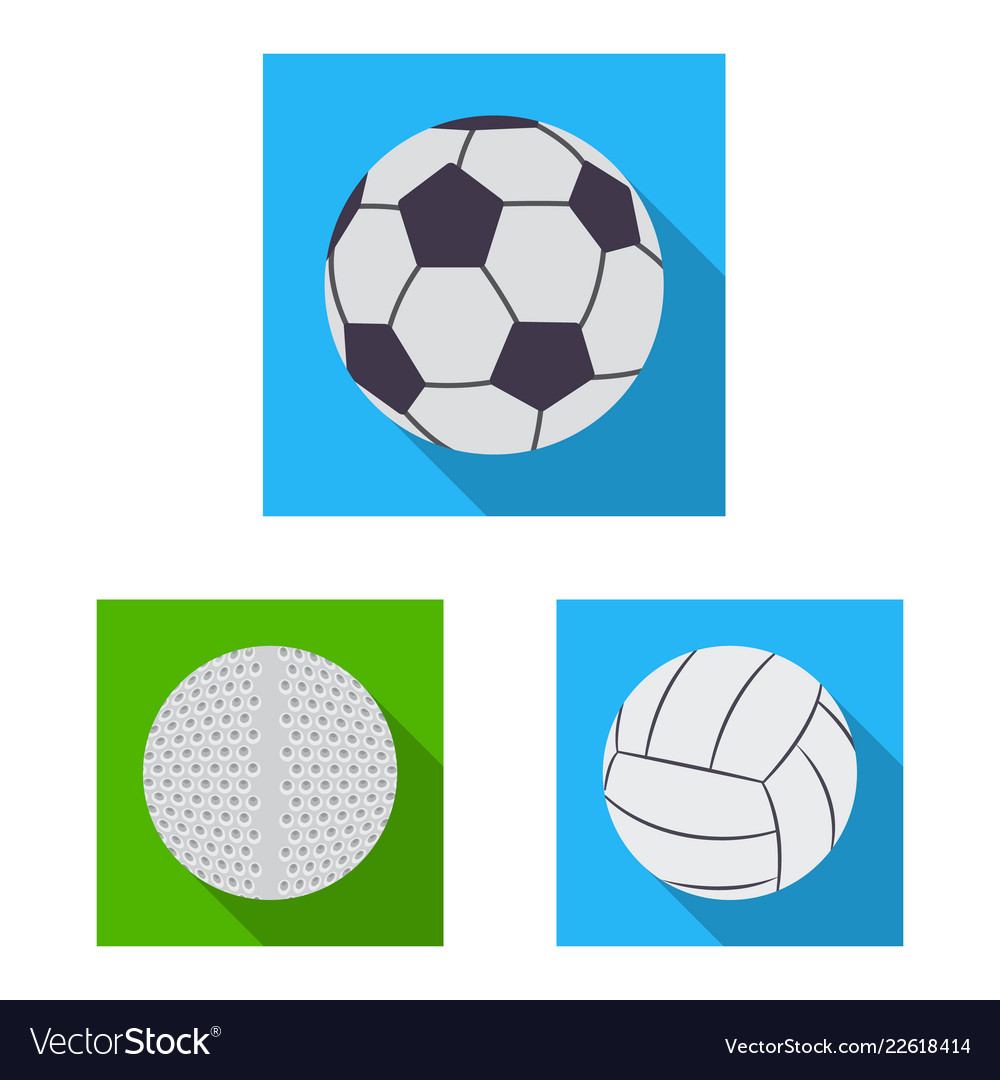 Isolated object of sport and ball symbol
