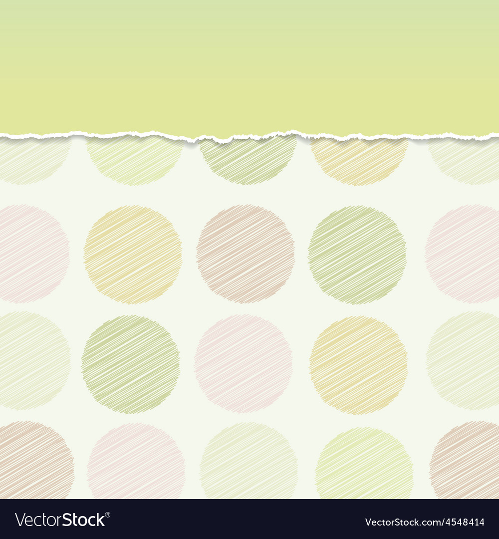 Vintage card design Polka dot background scribble