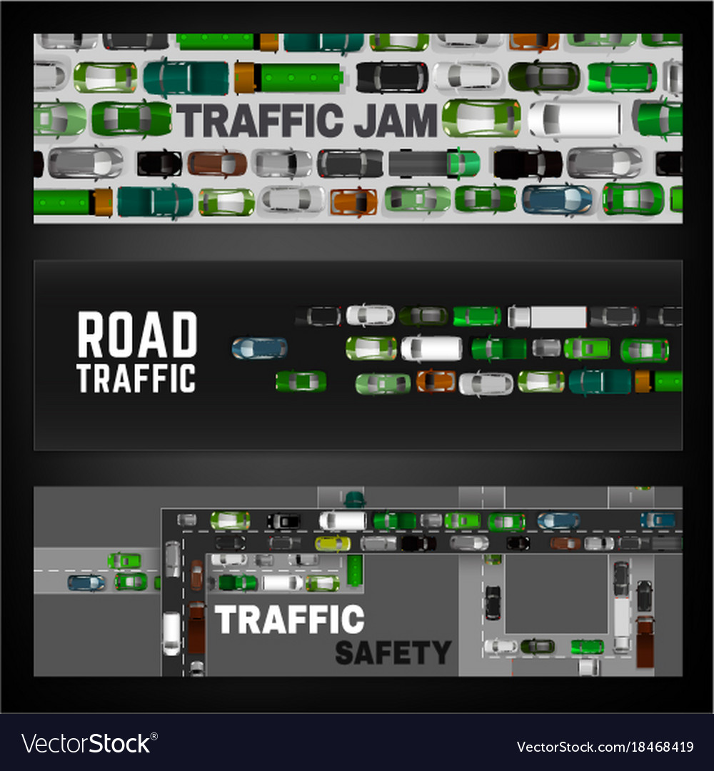 City traffic banner vector image