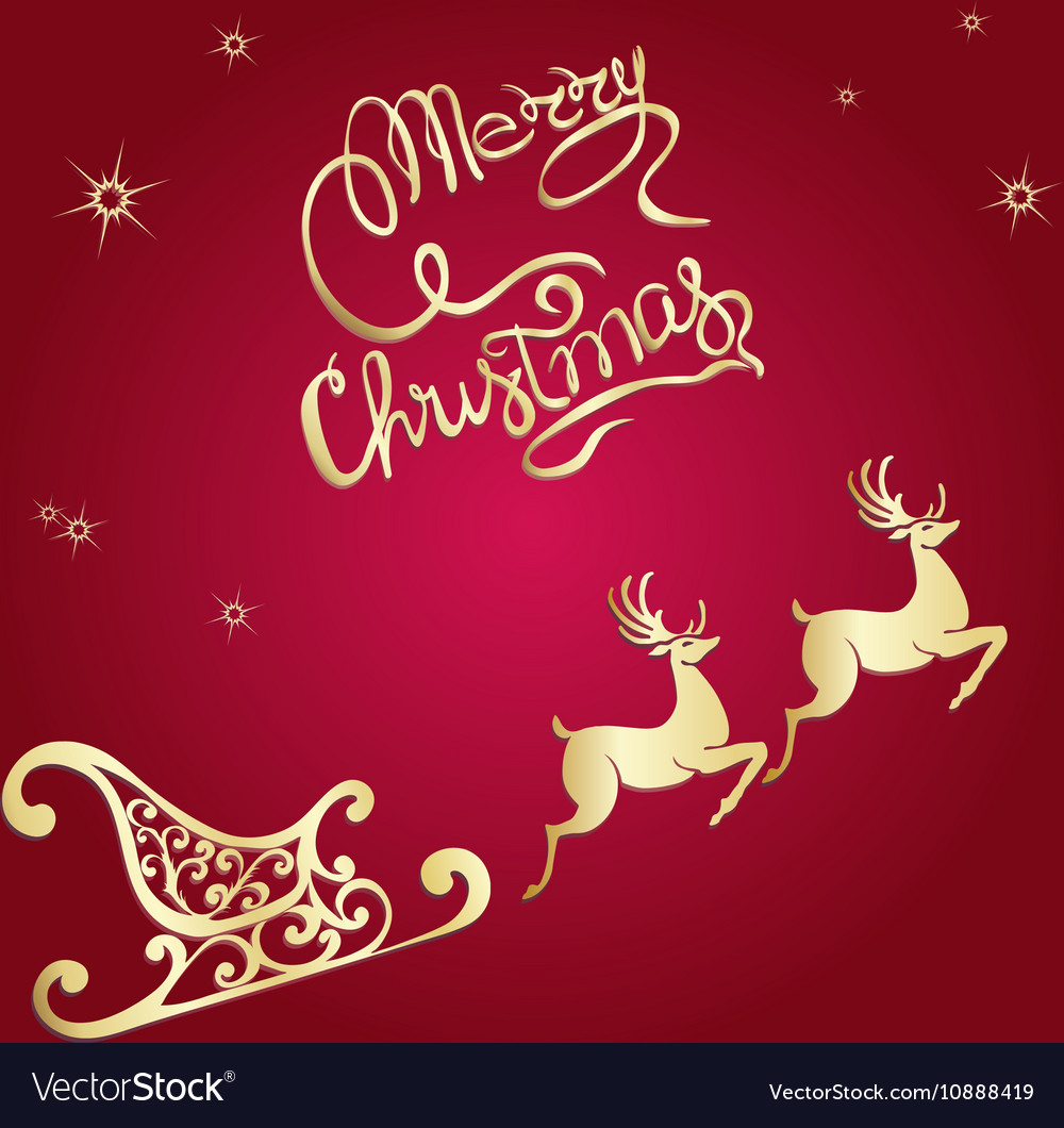deer merry christmas poster template royalty free vector