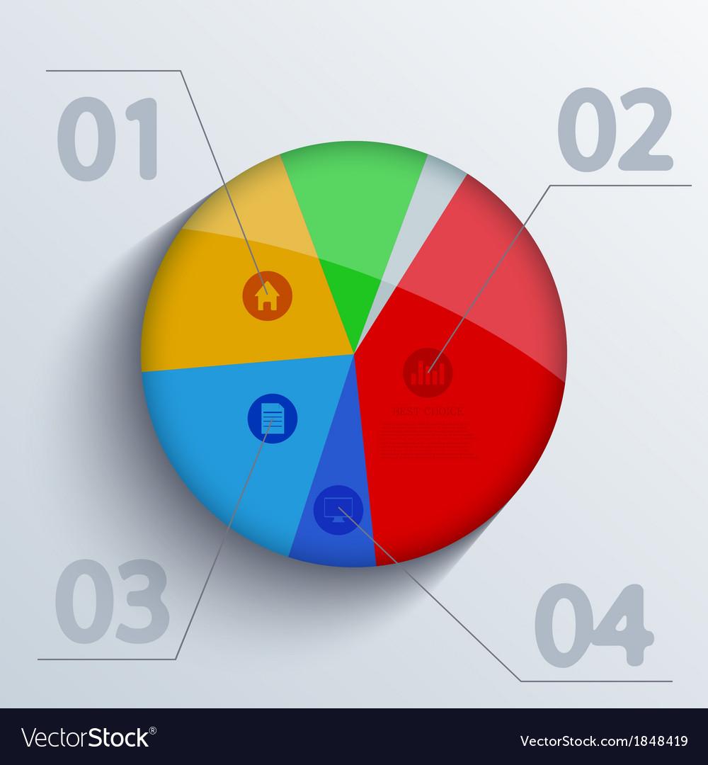 Diagram on blue background Eps10