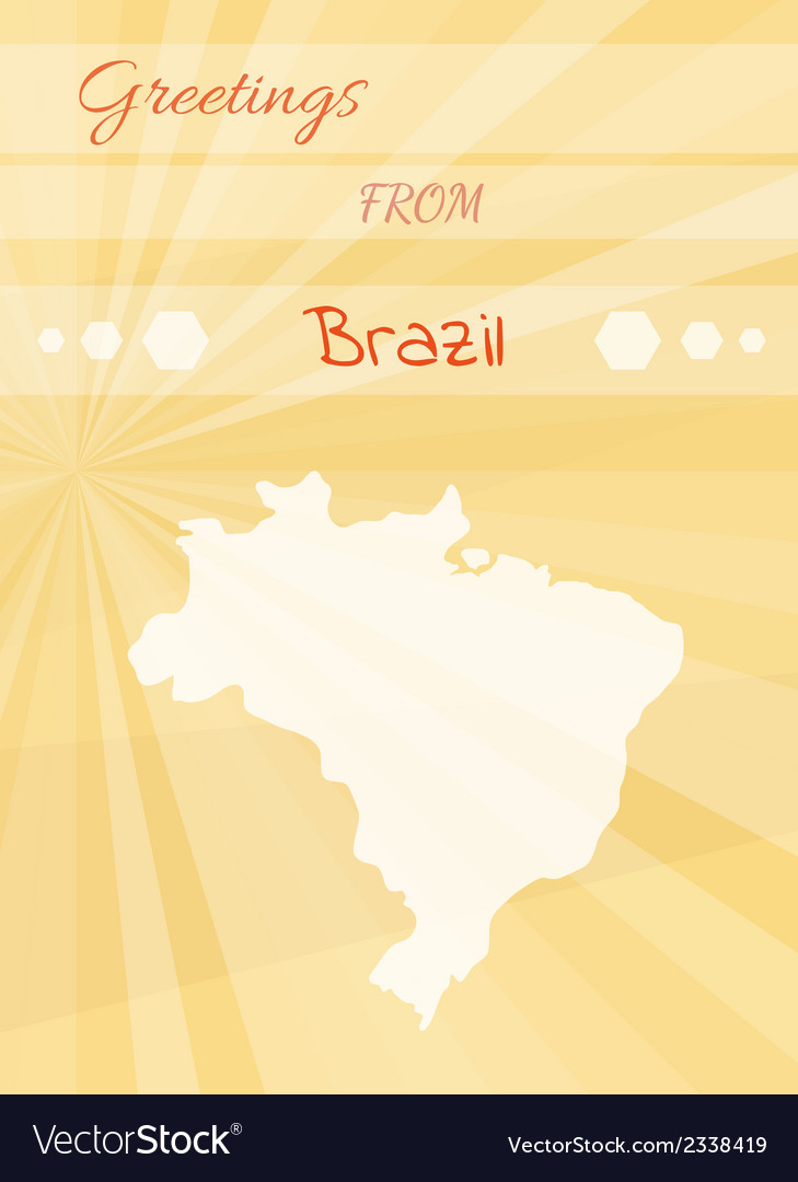 Greetings from brazil royalty free vector image greetings from brazil vector image m4hsunfo