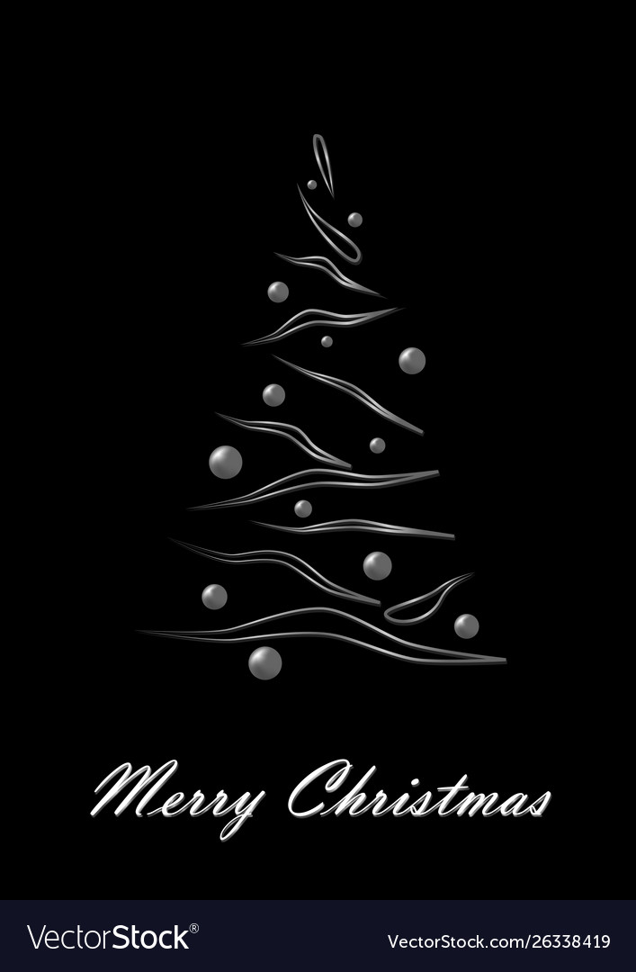 Merry Christmas Images Black And White.Merry Christmas White Elegant Christmas Tree On