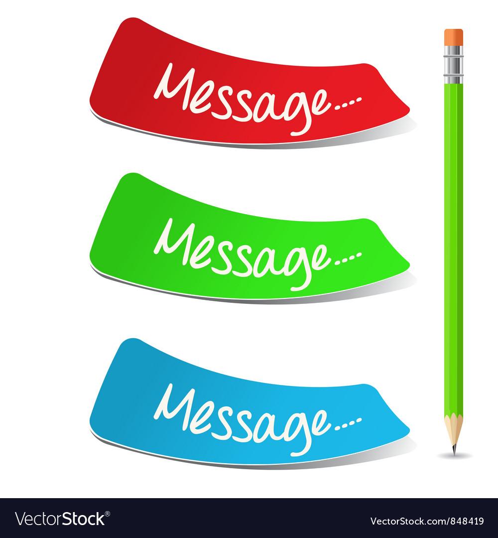 Message Set vector image