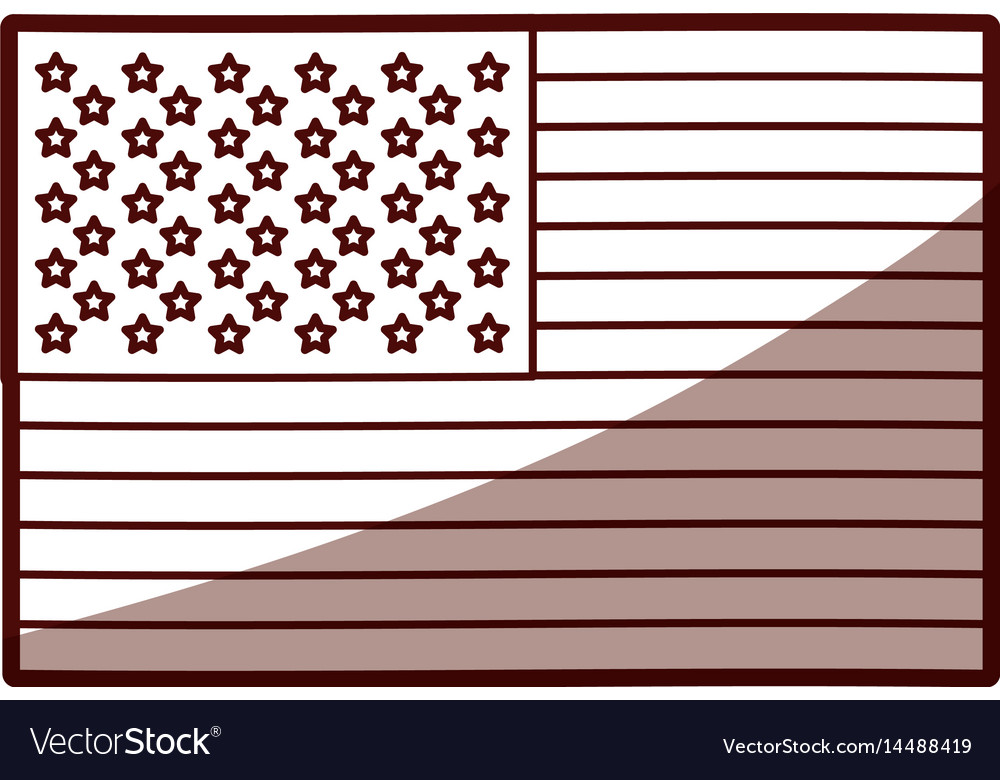 Monochrome silhouette of flag the united states