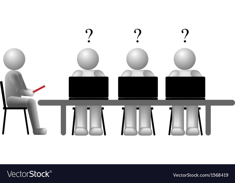 Team education vector image