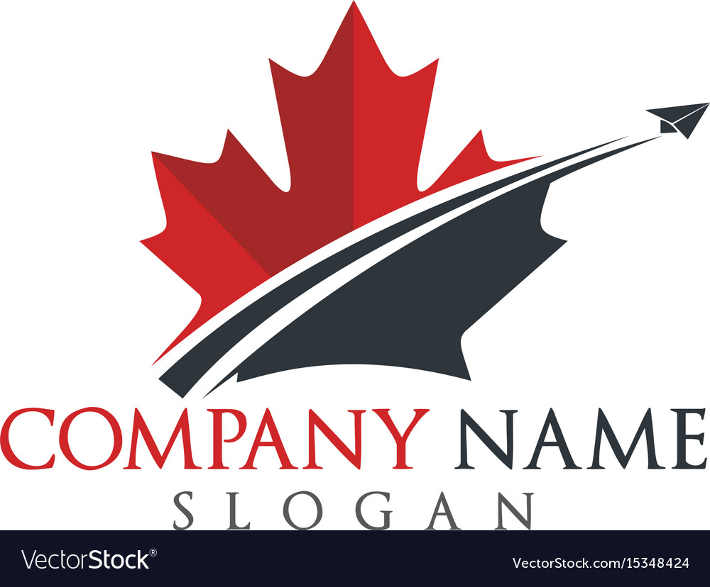 Canada travel logo design