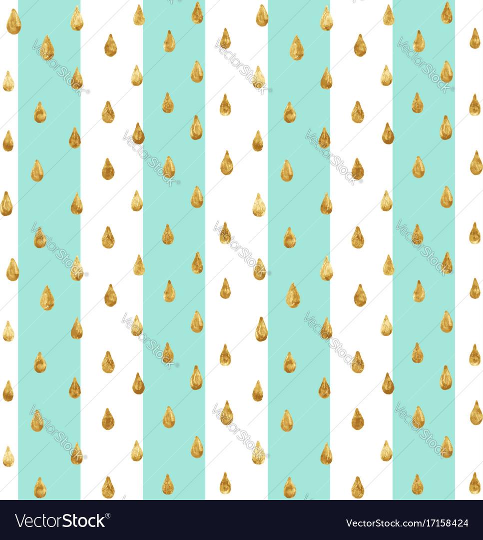 Gold glitter seamless pattern striped background