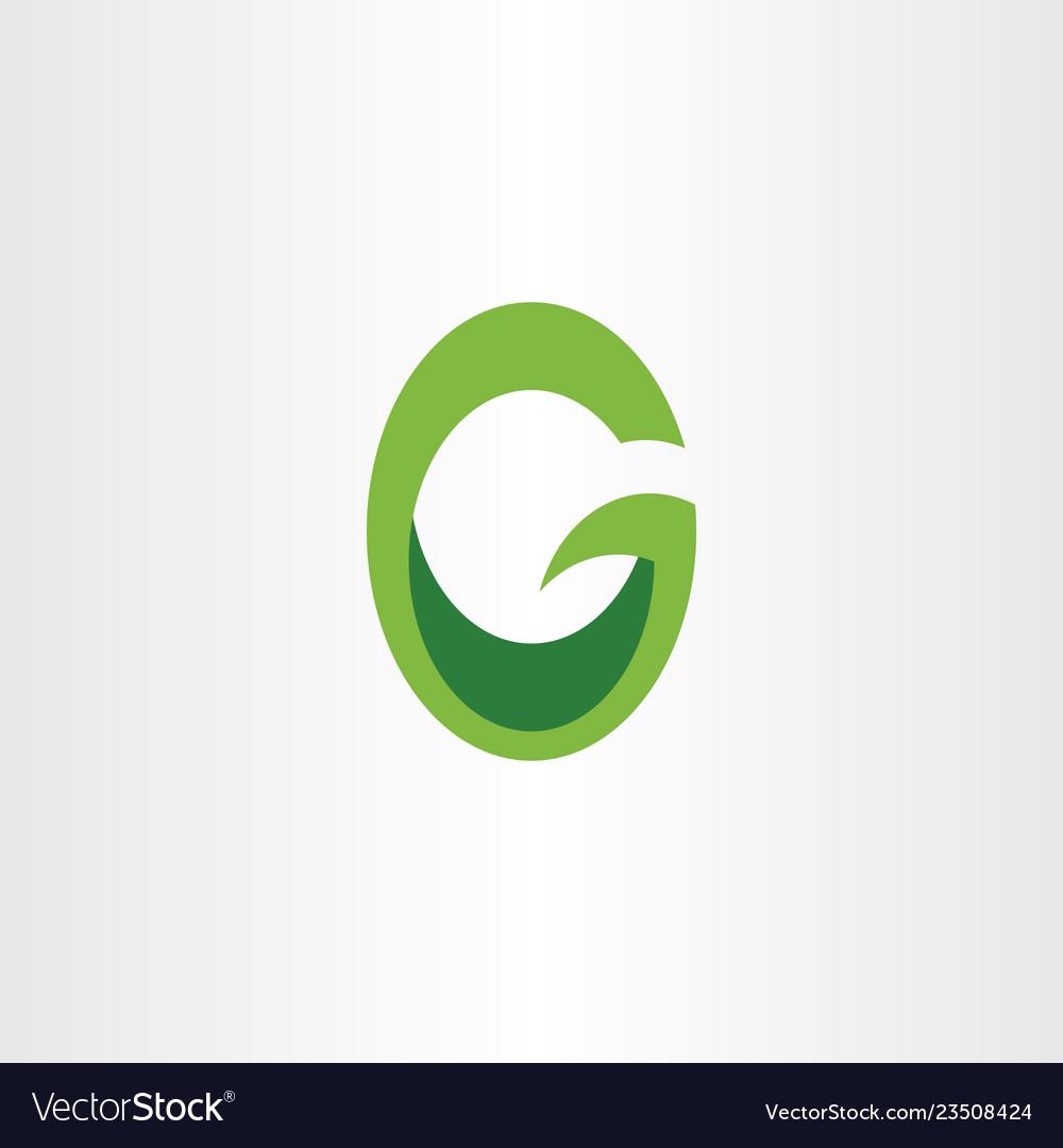Green logo letter g or o go logotype icon