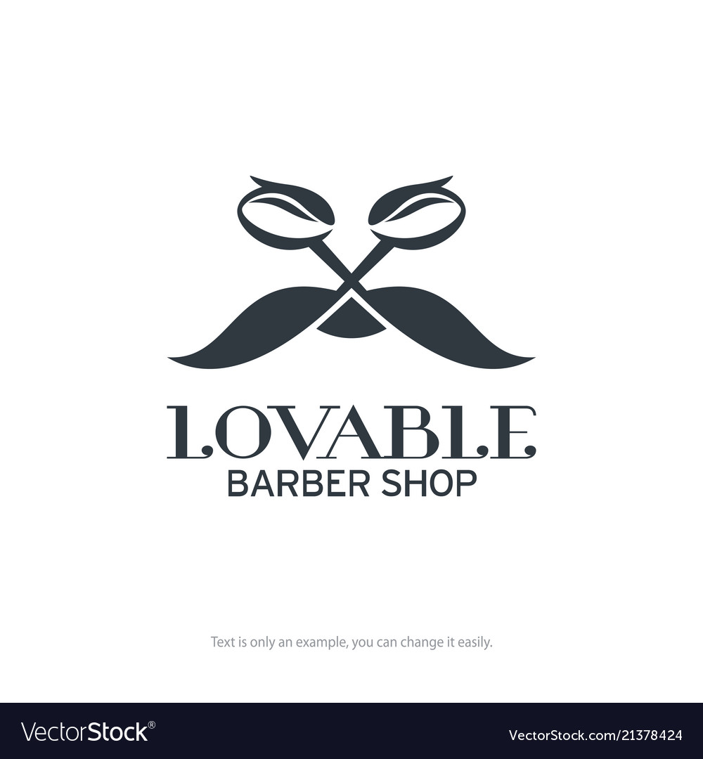 Lovable barber shop logo design