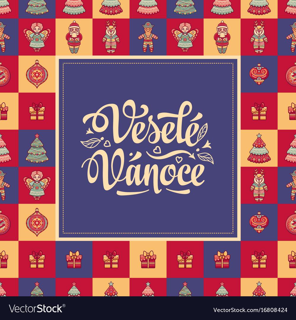Vesele vanoce xmas card on czech language