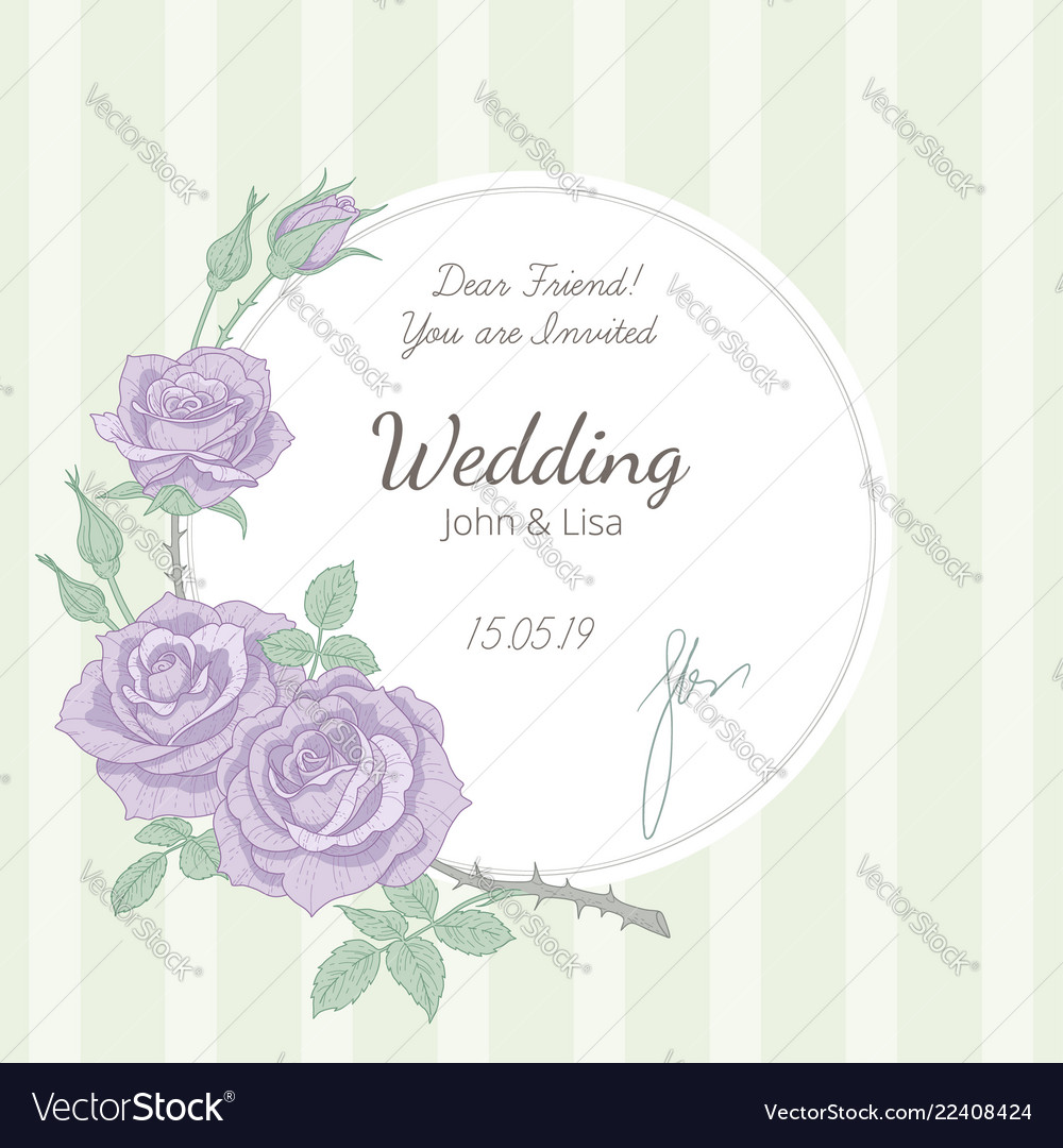 Wedding Invitation Background Royalty Free Vector Image