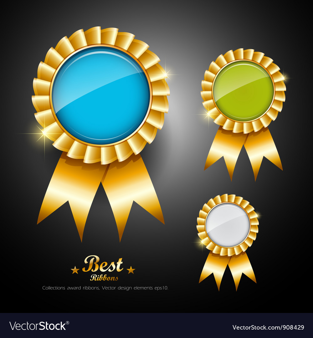Collections colorful ribbons award