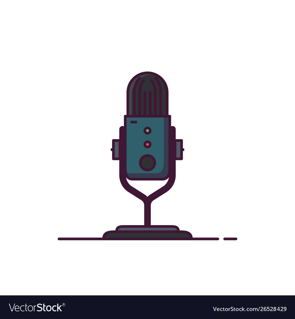 Podcast microphone line style