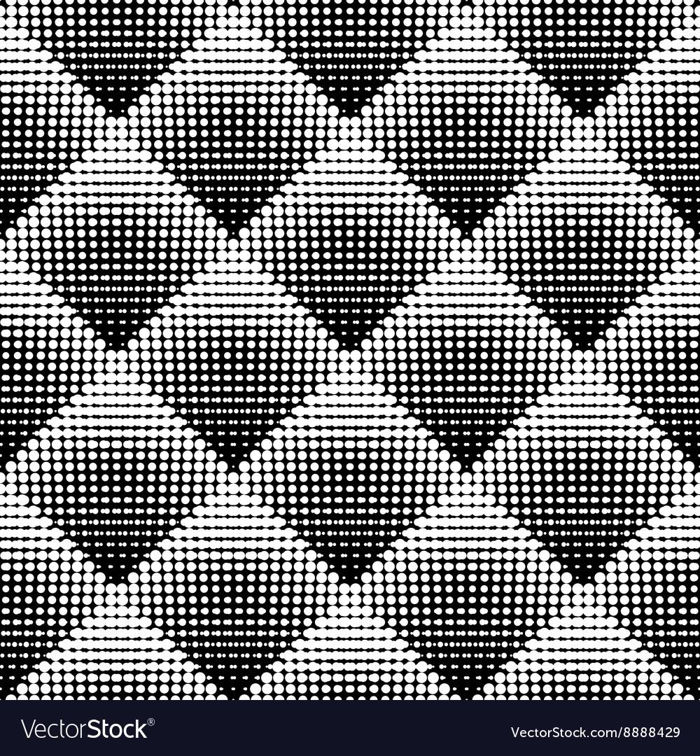 Seamless Black And White Stippling Rhombus