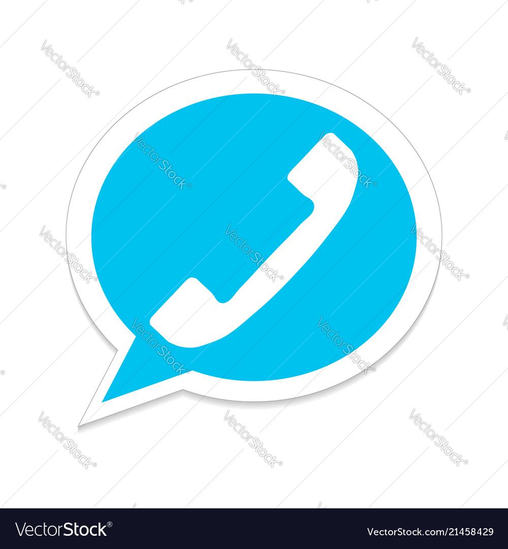 Stock icon phone isolated on white