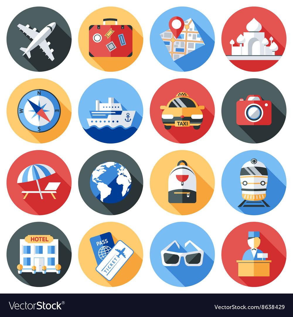 Travel Icon Flat Set