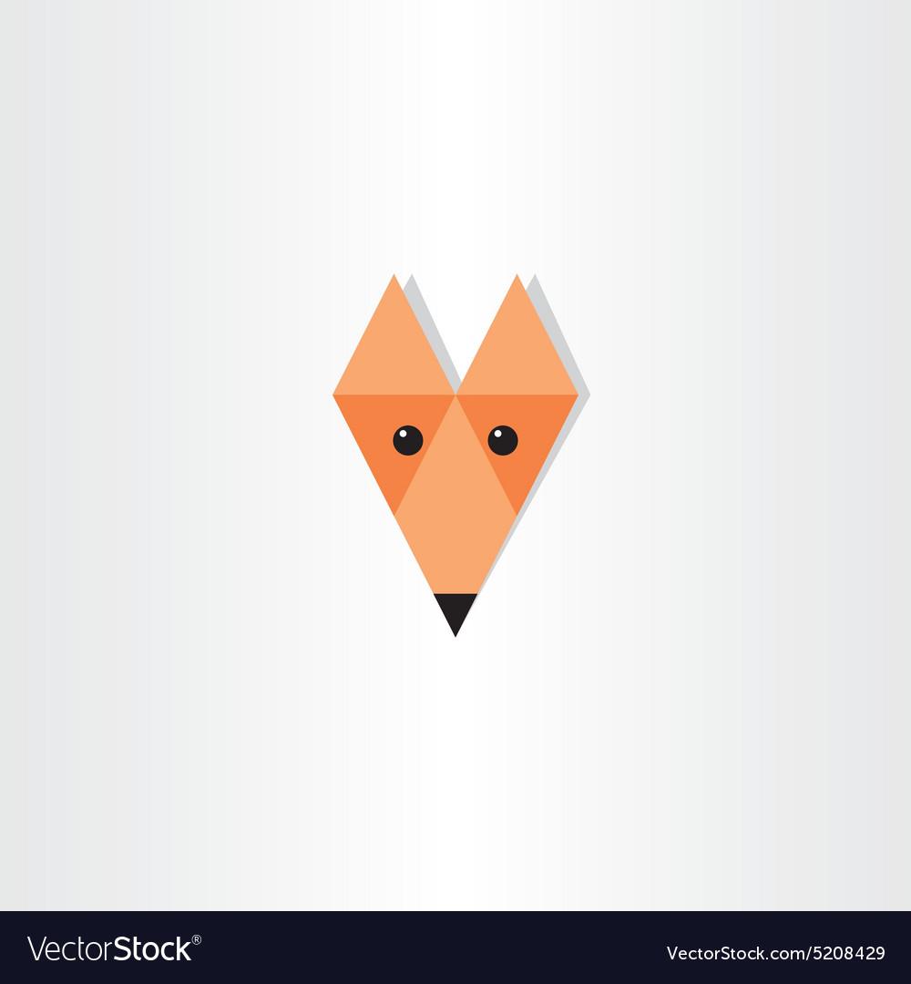 Triangles fox head icon design