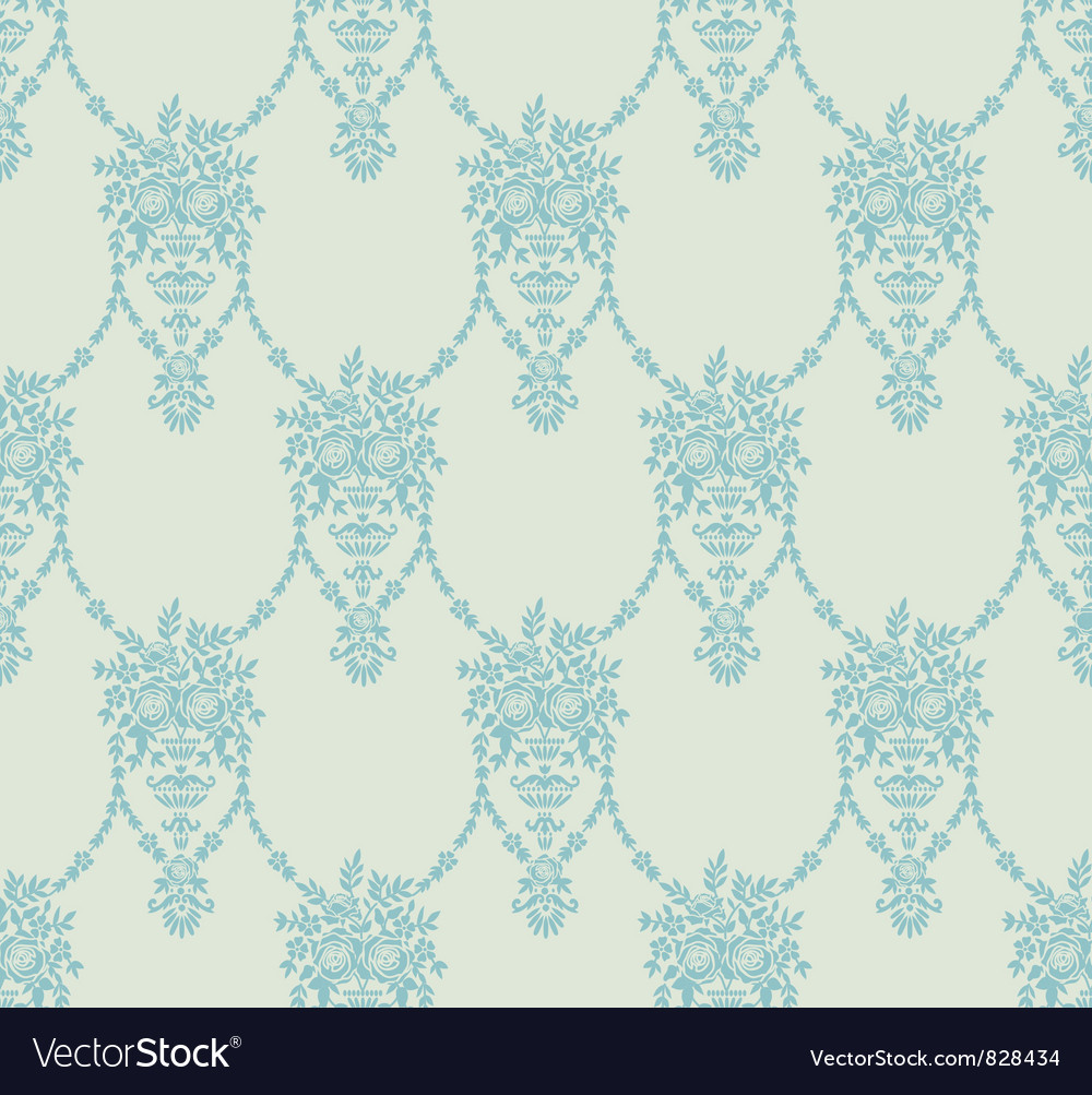 Abstract flower element seamless vector image