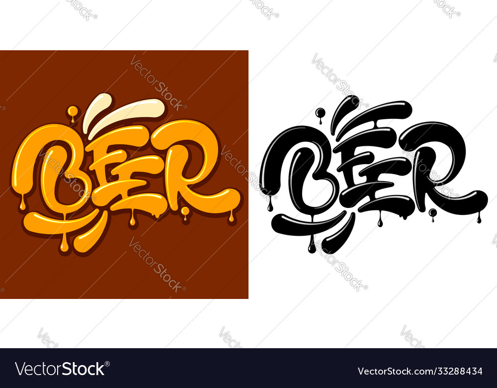 Beer lettering color and black