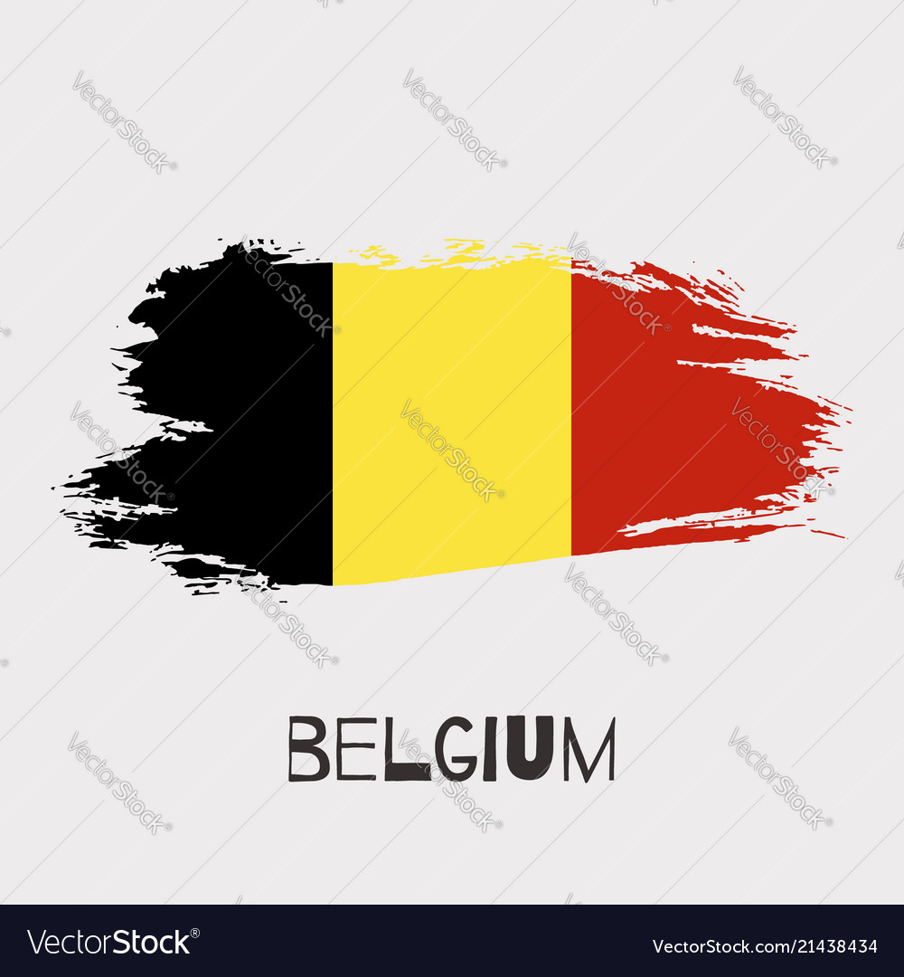 Belgium watercolor national country flag icon