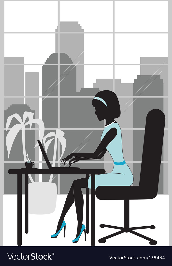 Business+woman+silhouette+vector