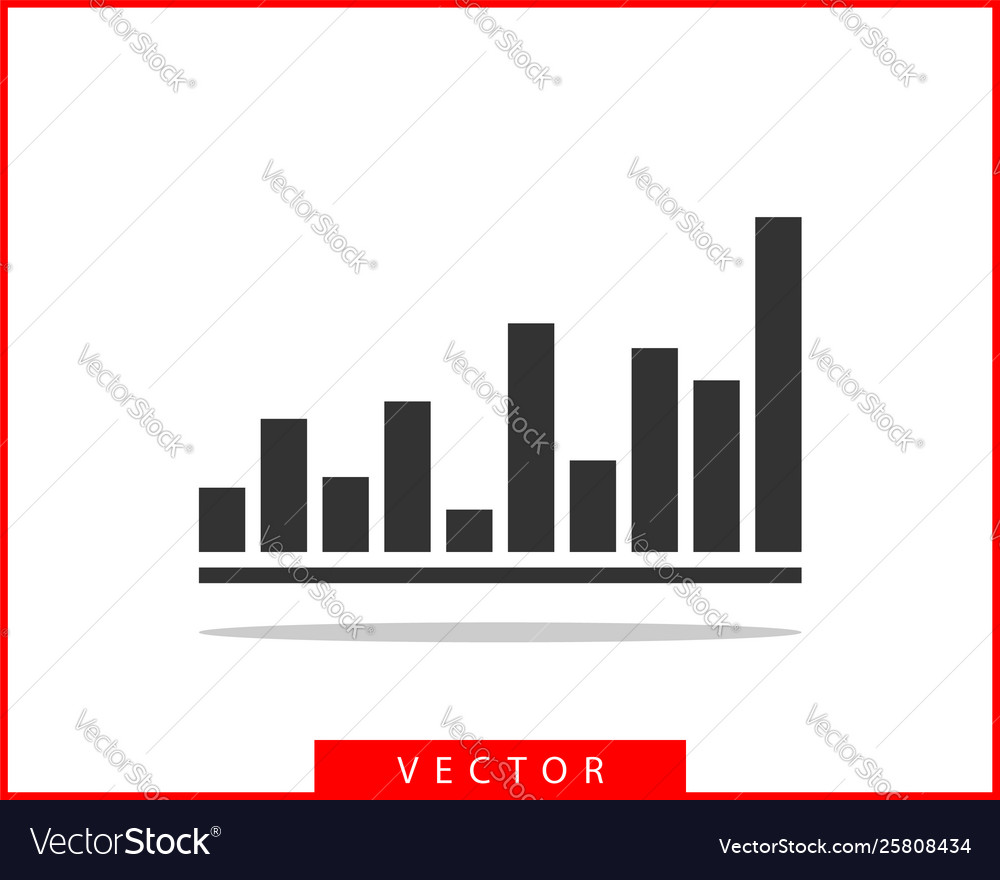 Charts and graphs diagram icon template