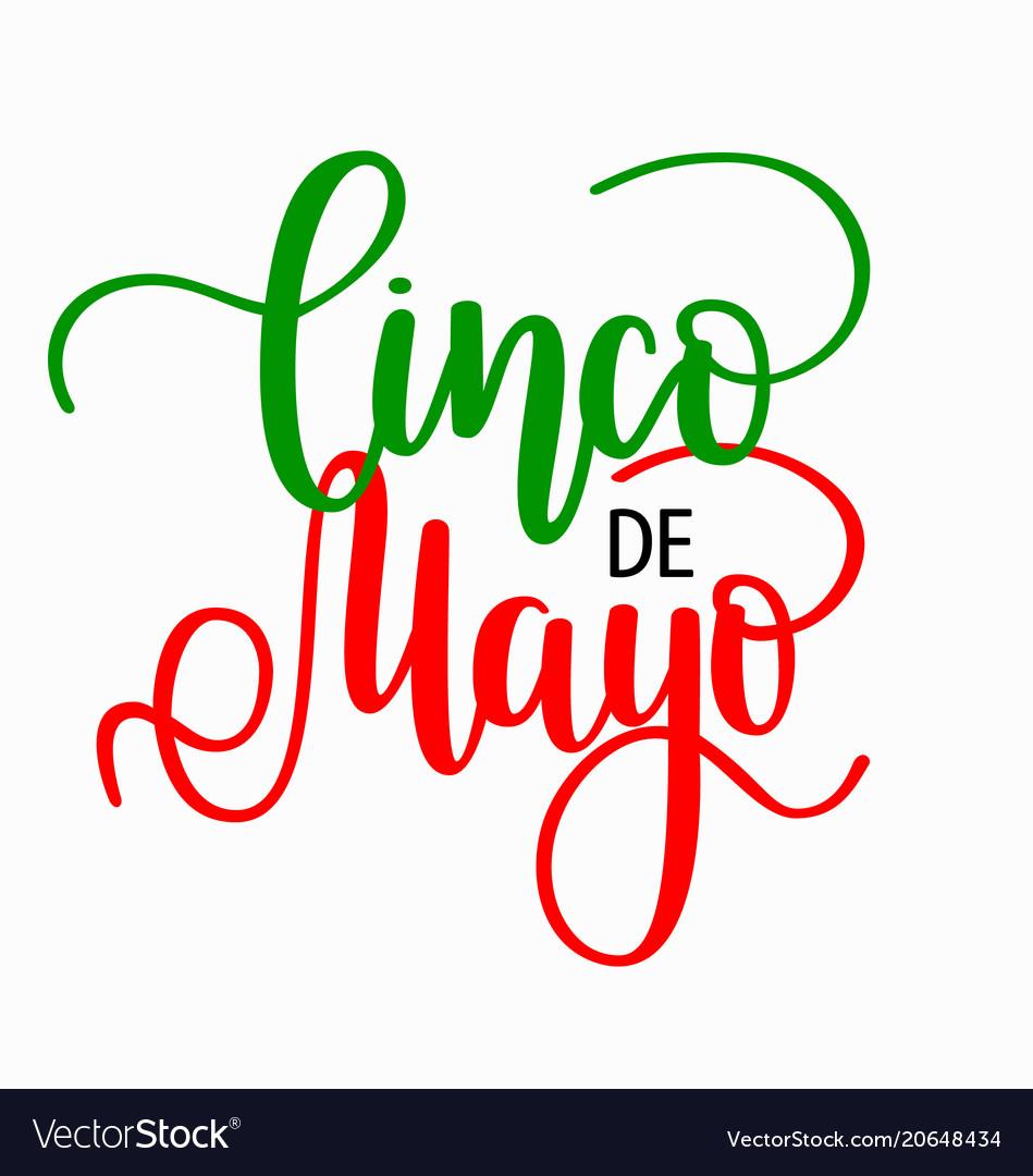Cinco de mayo lettering mexican holiday fiesta