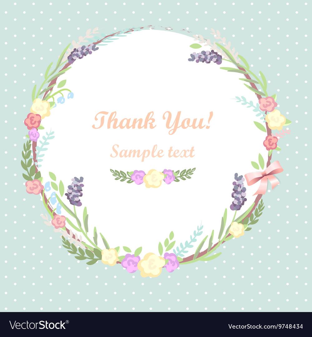 Floral frame card design